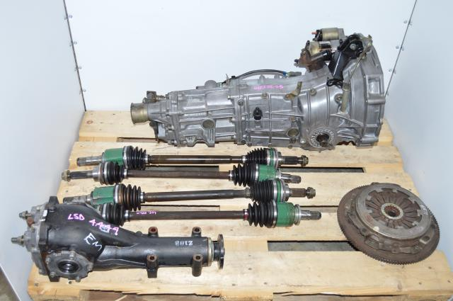 Impreza WRX 5 Speed Transmission Swap with Matching 4.444 LSD Rear Differential & 4 Corner Axles