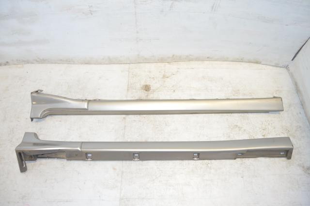 JDM Subaru Forester SG 02-08 Silver Side Skirts Valence