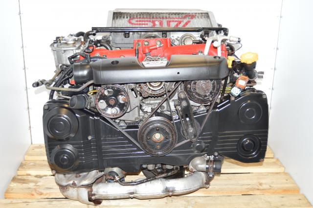 JDM Forester STi EJ255 2.5L DOHC AVCS Engine Package with VF41 Turbocharger For Sale