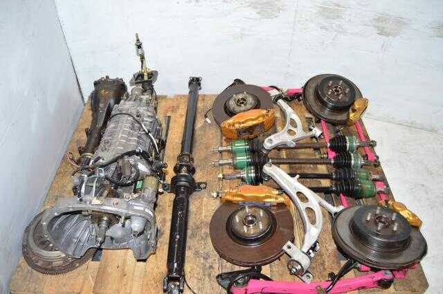 JDM DCCD Version 8 TY856WB6KA 6-Speed Transmission Swap For Sale with 4 Corner Axles, 3.9 R180 Diff, Driveshaft, Aluminum Control Arms & 5x100 Hubs For Sale