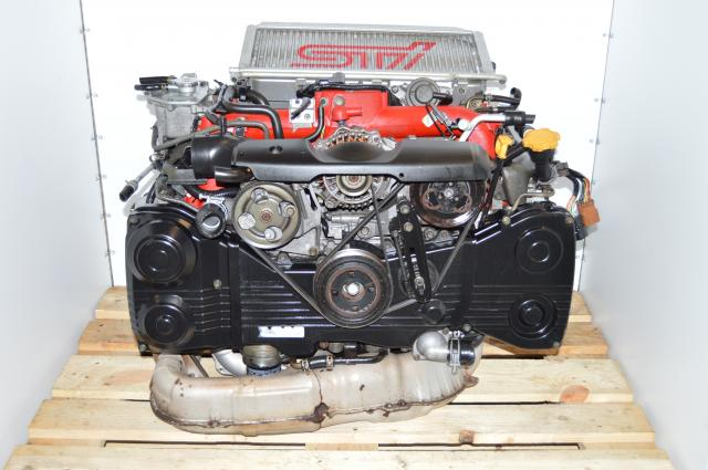 JDM Version 8 STi 2002-2007 Quad Cam 2.0L AVCS VF37 Twin Scroll Turbo Engine with Intercooler, Downpipe & ECU For Sale