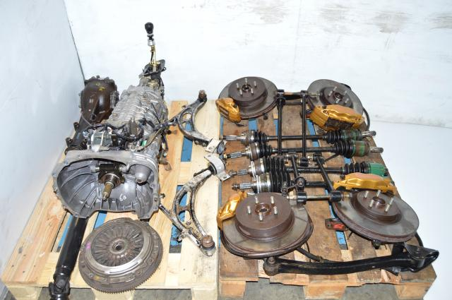 JDM STi Version 7 GDB GDA TY856WB1CA Non DCCD 6 Speed Transmission Package For Sale