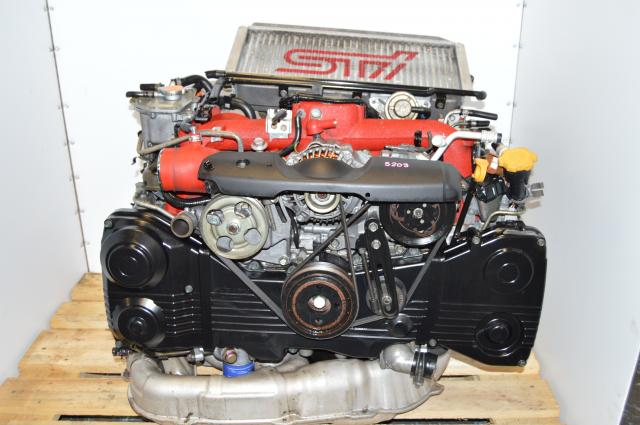 JDM STi Version 8 / 9 S203 EJ207 AVCS DOHC Engine with VF42 Turbocharger, Intercooler & Downpipe For Sale