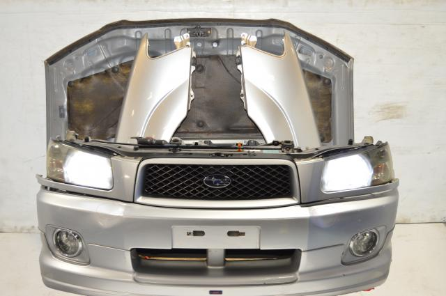 JDM Subaru Forester SG Front End Conversion with HID Headlights, Grill, Fenders, Side Skirts & Hood For Sale