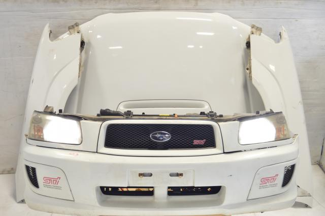 JDM STi Forester 03-08 SG Front End with Rear Bumper, Fenders, Hood, side skirts & HID Headlights