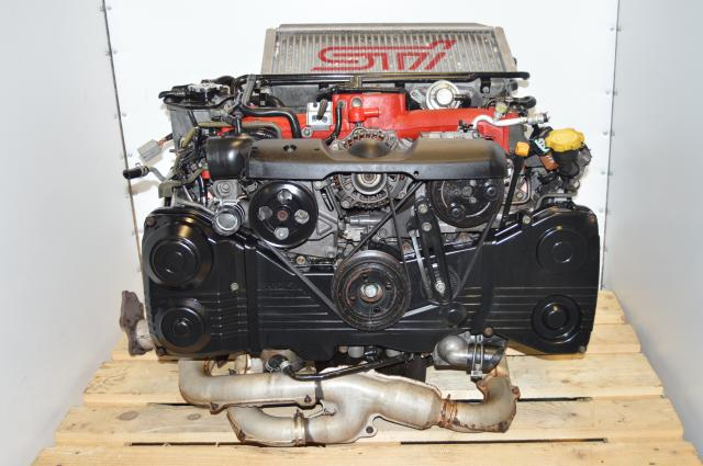 JDM Version 7 STi EJ207 2.0L 2002-2007 Engine Swap For Sale with Intercooler, Downpipe & ECU