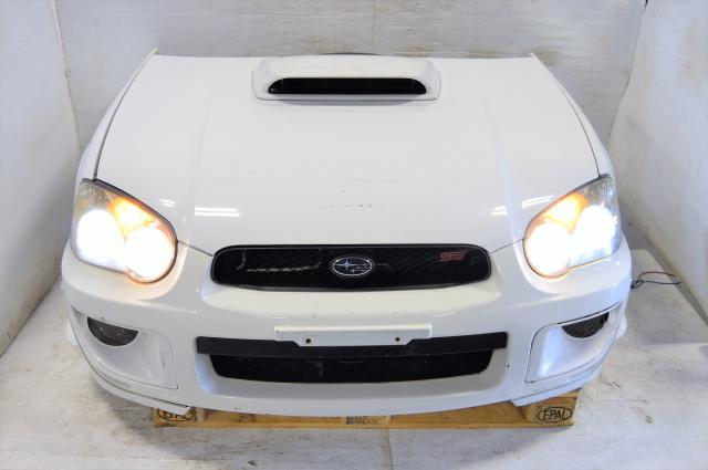 Subaru Version 8 JDM STi 04-05 Nose Cut Conversion with Fenders, Hood, Front Bumper with Lip & Radiator For Sale