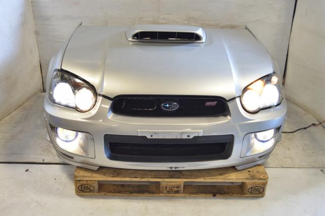 JDM Subaru Blobeye STi 04-05 Front End Conversion with multi-color / dichroic Fog Lights,  Fenders, Hood, Front Bumper , Radiator support