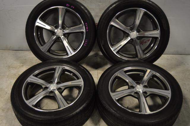 rozest JDM mags 5x114.3 17x7 offset 53 windforce catchpower tires 215/55r17