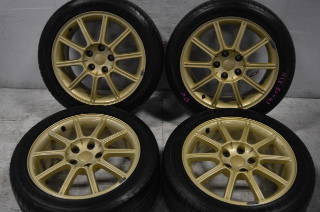 V9 STI MAGS 5X114.3 17X8 OFFSET 53 goodyear eagle F1 tires 235/45r17