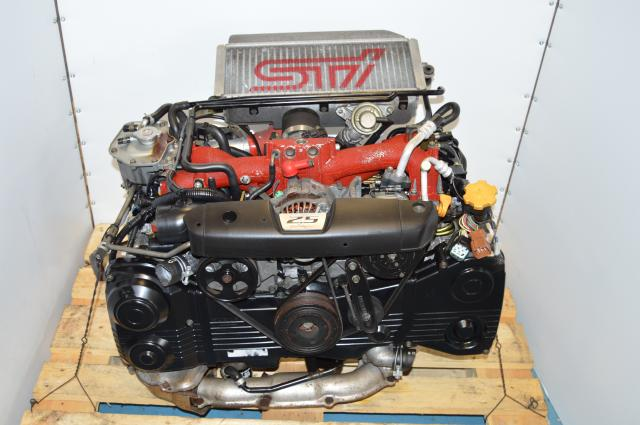 used low-mileage JDM Forester STi EJ255 2.5L DOHC AVCS Engine Package VF41 Turbocharger For Sale (fits WRX 06-07 & STI 05-06-07)