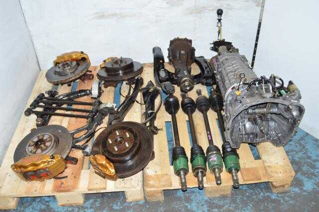 JDM Forester STi TY856WL4CC 6MT Complete Swap with 5x100 Brembos, Axles, 3.9 R180 Differential For Sale (Long gears)