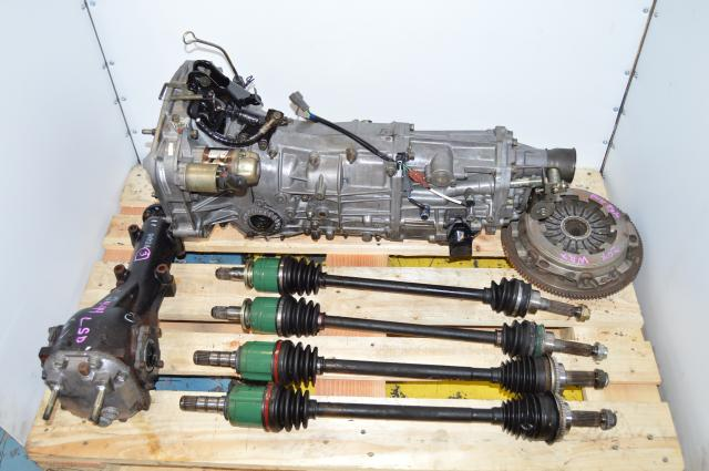 Used WRX 2002-2005 TY754VN2BA 5MT Replacement , JDM TY755VB5BA Transmission, 4.444 LSD Diff , Axles, Pressure Plate & Flywheel