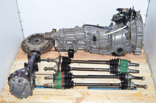 USED Subaru WRX 5 SPEED TY754VB5AA MANUAL TRANSMISSION, 2002-2005, LSD Rear Differential , Axles