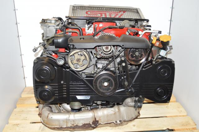 JDM Subaru STi 2002-2007 Version 8 Twin-Scroll EJ207 DOHC Engine Swap with VF37 IHI Turbocharger For Sale