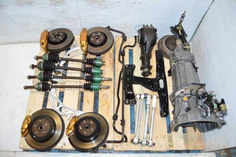 JDM Subaru STi TY856WB3KA 6 Speed DCCD Transmission Package with 4 Corner Axles, Brembo Calipers & 5x100 Hubs
