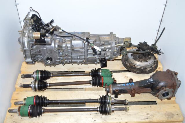 Used Subaru 5 Speed WRX TY754VBBAA turbo transmission with 4.444 Differential, replacement for TY754VV5AA