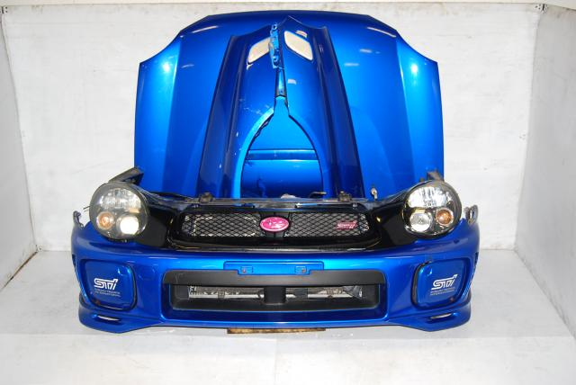 JDM Bugeye Version 7 STi 2002-2003 Front End Body Conversion Kit with HID Headlights, Hood with Scoop, Zero Sports, Fenders with Side Markers & Foglight Covers
