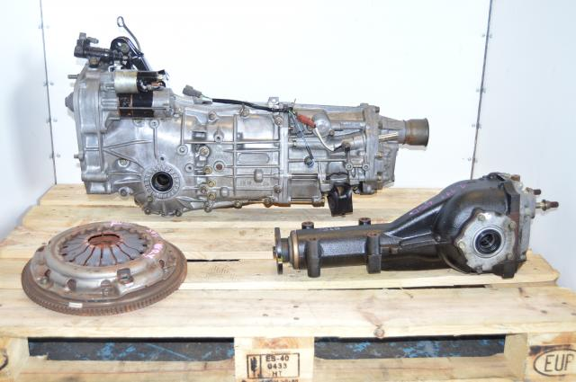 Subaru Impreza 06-07 Push-Type 5 Speed Transmission Swap with 4.444 Rear Diff For Sale