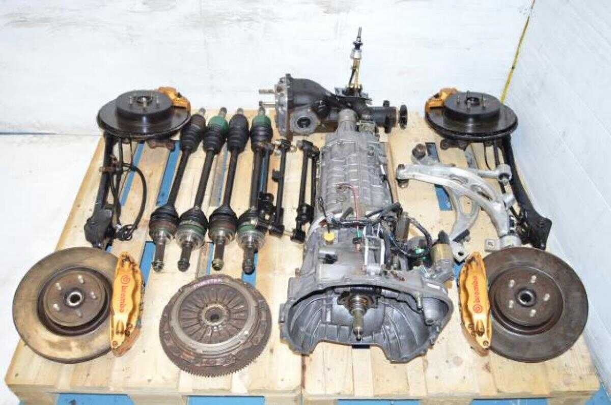 JDM Forester STi 6MT TY856WL4CC Complete Transmission Package ,5x100 Hubs, Brembos, Axles, 3.9 R180 Differential For Sale (Long gears)