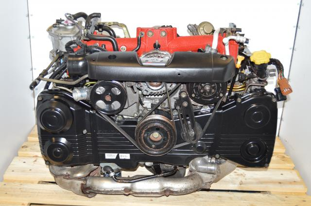 JDM Forester STi EJ255 2.5L DOHC Engine Package with VF41 Turbo & Downpipe For Sale