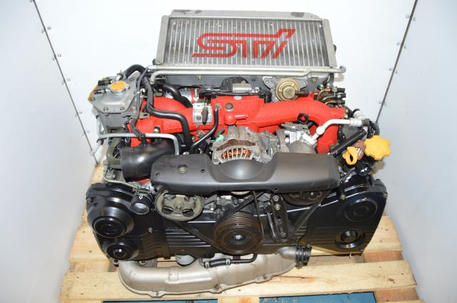 JDM Subaru STi 02-07 Version 8 Twin Scroll EJ207 2.0L DOHC AVCS VF37 Turbocharged Engine Swap