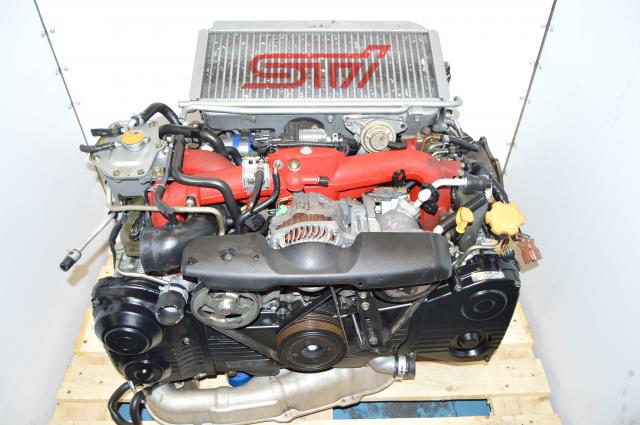 JDM STi Version 9 Spec-C 2002-2007 EJ207 VF36 Twin Scroll Motor Package with After Market Downpipe For Sale
