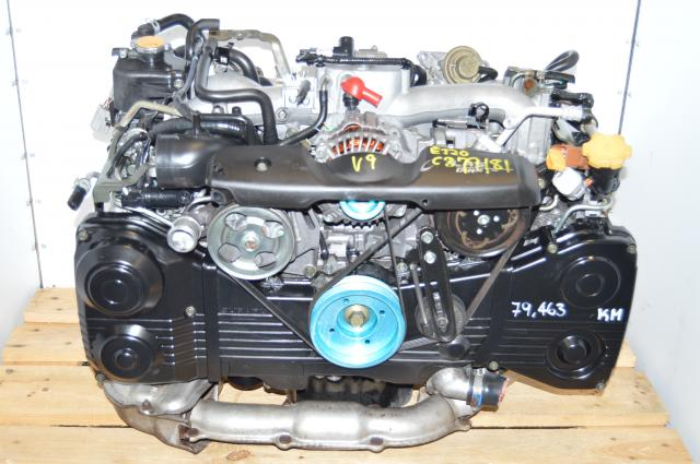 Subaru 2.0L EJ205 TD04 Turbo Engine Swap for 2002-2005 AVCS Model with Aftermarket Pulleys For Sale
