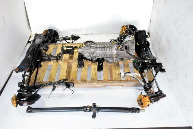 JDM STi 2002-2007 TY856WB1CA Version 7 Complete 6-Speed Manual Setup with 4 Corner Axles, Subframes, Driveshaft & Matching 3.9 Rear Differential