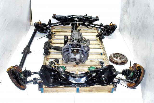 Subaru STi 02-07 Version 7 JDM TY856WB1CA 6MT Kit with Axles, Differential, Crossmember, Driveshaft & 5x100 Hubs For Sale