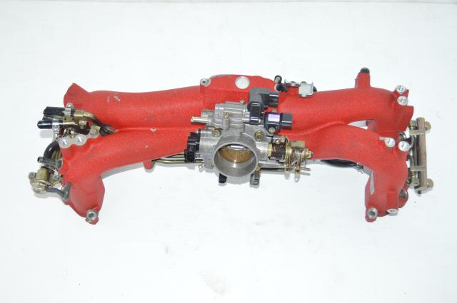 JDM STi Version 8 Intake Manifold TGV Deleted Assembly For Sale with Throttle Body Long runner