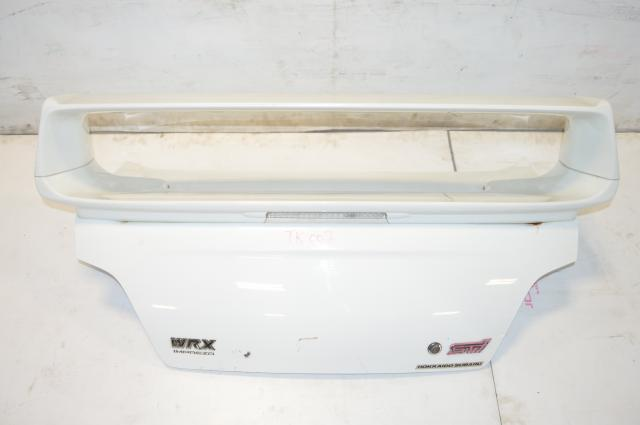 JDM Subaru Impreza, WRX, STi, White Trunk Assembly with Spoiler, Sedan GDB GDA 2002-2007