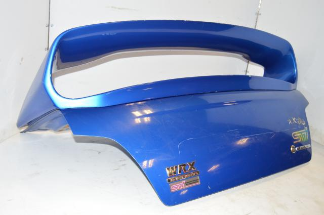 ZERO SPORTS subaru impreza wrx sti wing with trunk link for sale GDA GDB wrb blue