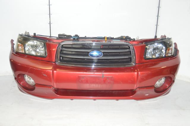 JDM Subaru Forester SG5 2003-2005 Red Front End Coversion with Headlights, Front Bumper Cover, Foglights & Ballasts