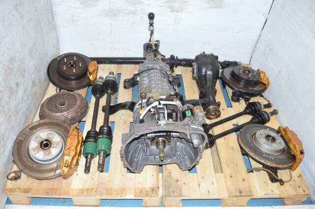 Subaru STi Version 8 DCCD TY856WB3KA 02-07 JDM Manual Transmission with Differential, Axles, Driveshaft & Subframes 5x114