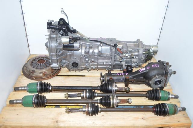 Used JDM Subaru WRX 2006-2007 GD Push Type Replacement 5 speed Transmission with 4.444 LSD Rear Differential For Sale