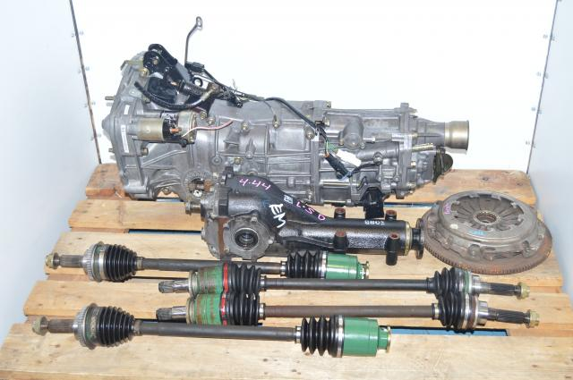 JDM Subaru WRX Forester 5 Speed Manual Transmission Swap with 4 Corner Axles & Matching Rear 4.444 LSD Differential For Sale