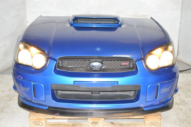JDM STi 04-05 Version 8 Blob Eye Sedan Front End Conversion Package,  Nose Cut With Fenders, HID Headlights, Grill, s203 Carbon Fiber Lip