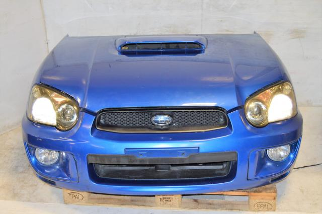 Subaru 2004-2005 Wagon Version 8 Blob Eye Front End Conversion Package with HID Headlights, Foglights, Fenders, Radiator & Hood For Sale