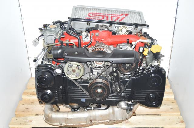 JDM Version 8 WRX STi EJ207 2.0L VF37 Turbocharged Engine Swap with Intercooler & Downpipe For Sale