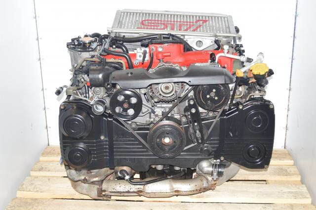 JDM Subaru STi Version 7 2002-2003 Bugeye EJ207 2.0L AVCS Turbocharged Engine Swap with Forged Internals For Sale