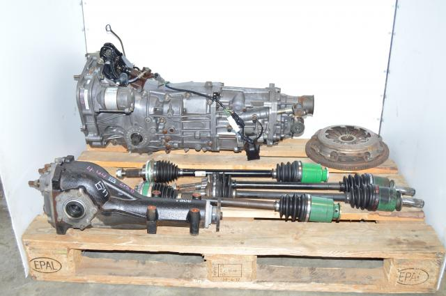 Subaru WRX 2002-2005 GDA GDB Manual 5 Speed Transmission Replacement Swap for Sale with 4.444 LSD Rear Diff & Axles