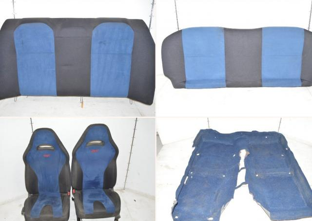 JDM Subaru STi 02-07 Front Seats, Rear Bench & Interior Carpet For Sale - Blue