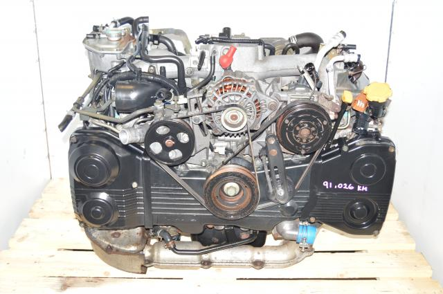 Used JDM Subaru WRX 2002-2005 EJ205 TF035 Turbo AVCS Motor Swap for Sale with TGV Deleted Manifold