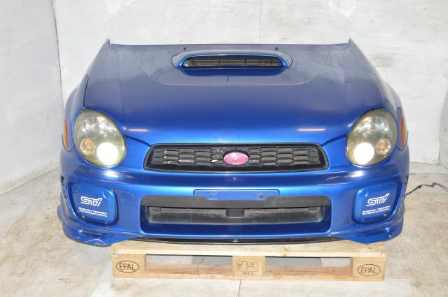 Used Subaru WRB STi 2002-2003 Version 7 Bugeye GDB GDA Nose Cut For Sale with Fenders, HID Headlights, Foglight Covers & Hood, V Limited