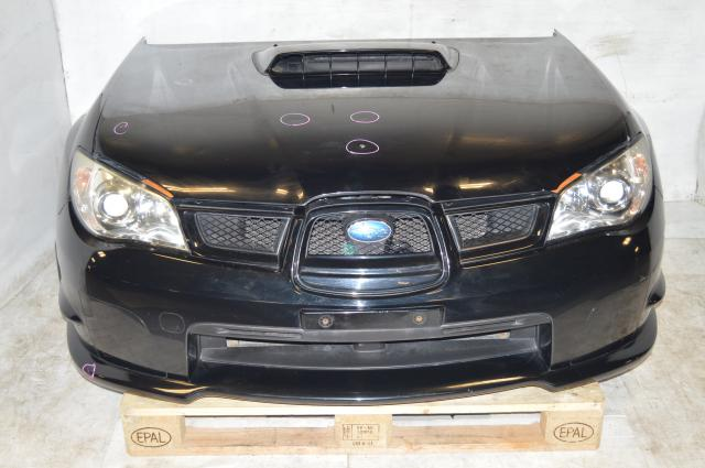 JDM Hawkeye Sedan WRX Impreza V9 GD Front End Conversion Non-HID Headlights, Foglight Covers, 3-Piece Grille, Radiator & Hood For Sale
