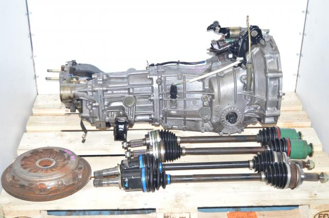 Subaru WRX 2002-2005 5-Speed JDM Transmission Swap with 4.444 Rear Differential, 4 Corner Axles & Clutch Assembly