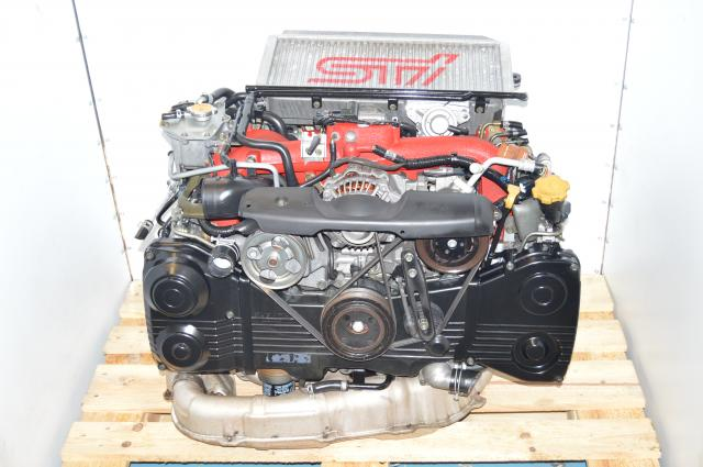 JDM STi 2002-2007 Version 8 Twin Scroll IHI VF37 Turbocharged EJ207 AVCS DOHC Engine Swap For Sale