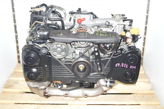 Used Subaru EJ205 Turbocharged TD04 AVCS Engine For USDM WRX 2002-2005 DOHC 2.0L
