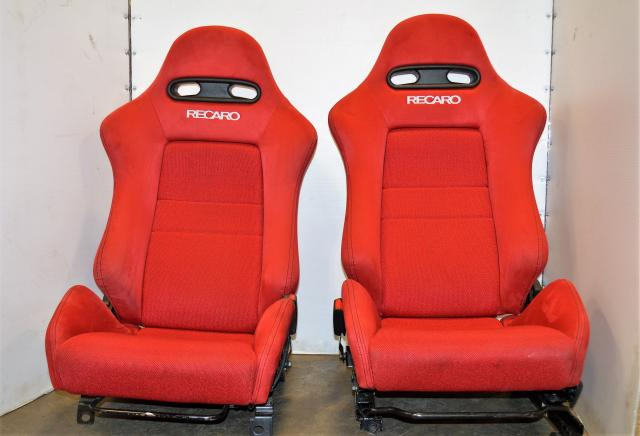 JDM Acura Honda RSX Integra Type R DC5 Red Recarco Seats OEM with Rail Assembly - In Great Condition!!! Civic EK9 DC2